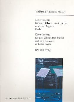 MOZART - Divertimento Es-Dur KV 289 -Bläsersextett - Stimmen - Partition - di-arezzo.fr