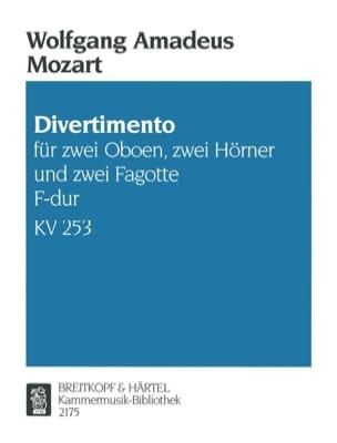 Divertimento F-Dur KV 253 -Bläsersextett - Stimmen - laflutedepan.com