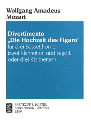 MOZART - Divertimento Hochzeit des Figaro - 3 Bassetthörner 2 Kl. Fag./3Kl. - Sheet Music - di-arezzo.co.uk
