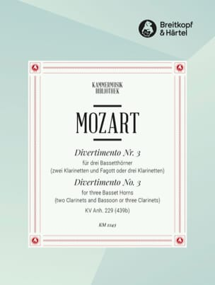 MOZART - Divertimento Nr. 3 - 3 Bassetthörner 2 Klar. Fag. / 3 Klar. - Sheet Music - di-arezzo.co.uk