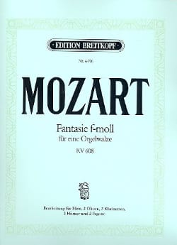 Wolfgang Amadeus Mozart - Fantasie F-Moll (Fa Min.), Kv 608 - Nonette A Vents - Partition - di-arezzo.fr