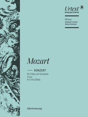 MOZART - Flötenkonzert Nr. 2 D-Dur KV 314 - Flöte Klavier - Partition - di-arezzo.fr