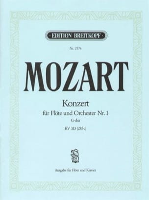 MOZART - Flötenkonzert Nr. 1 G-Dur KV 313 – Flöte Klavier - Partition - di-arezzo.fr