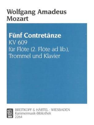 MOZART - 5 Contretänze KV 609 - Flöte Trommel Klavier - Partitura - di-arezzo.es