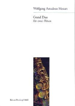 Wolfgang Amadeus Mozart - Grand Duo (aus KV 309 und 264) – 2 Flöten - Partition - di-arezzo.fr