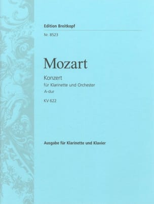 MOZART - Konzert A-Hard KV 622 - Klarinette Klavier - Sheet Music - di-arezzo.co.uk
