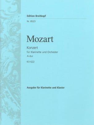 MOZART - Konzert A-Dur KV 622 – Klarinette Klavier - Partition - di-arezzo.fr