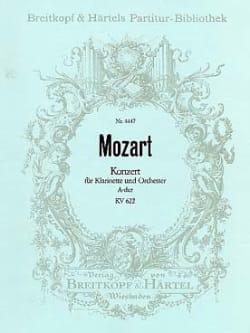Wolfgang Amadeus Mozart - Klarinettenkonzert A-Dur KV 622 – Partitur - Partition - di-arezzo.fr