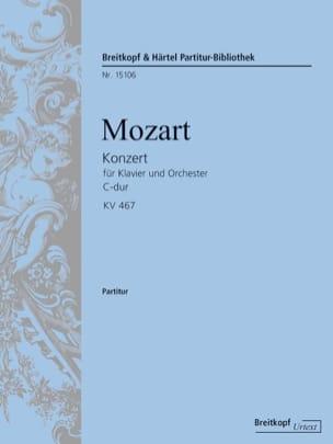 MOZART - Klavierkonzert Nr. 21 C-Dur KV 467 - Partitur - Partition - di-arezzo.fr