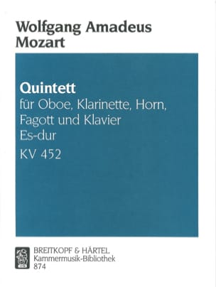 MOZART - Quintett Es-Dur Kv 452 - Partition - di-arezzo.fr