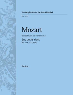 MOZART - Les petits riens KV Anh. 10 - Partitur - Partition - di-arezzo.fr