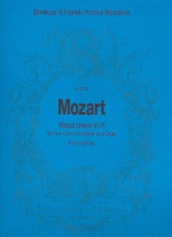Wolfgang Amadeus Mozart - Missa Brevis In B, Kv 275 - Partition - di-arezzo.fr