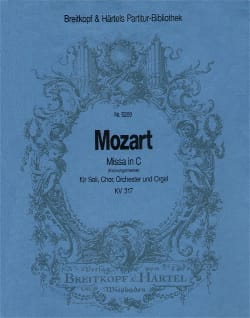 MOZART - Missa C-Dur KV 317 Krönungsmesse - Partitur - Sheet Music - di-arezzo.co.uk