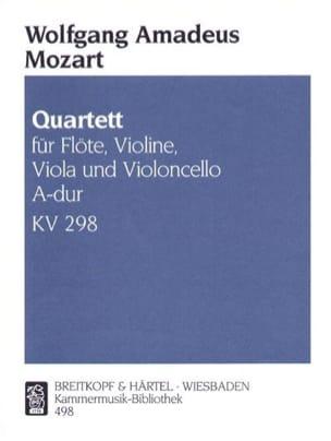 MOZART - Quartett A-dur KV 298 - Partition - di-arezzo.fr