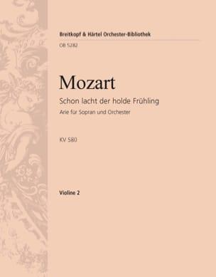 Wolfgang Amadeus Mozart - Schon lacht der holde Frühling KV 580 - Partition - di-arezzo.fr