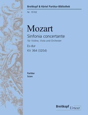 Wolfgang Amadeus Mozart - Sinfonia Concertante Es-Dur KV 364 – Partitur - Partition - di-arezzo.fr