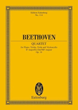 BEETHOVEN - Quartett Es-Dur - Partition - di-arezzo.fr