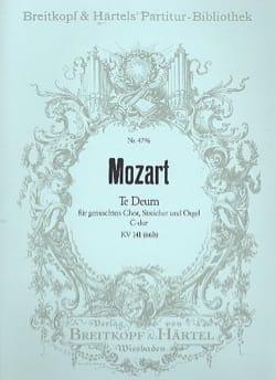 Wolfgang Amadeus Mozart - Te Deum in C-Dur KV 141 – Partitur - Partition - di-arezzo.fr
