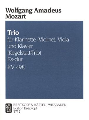 Wolfgang Amadeus Mozart - Trio Es-Dur KV 498 – Klarinette (Violine) Viola Klavier - Partition - di-arezzo.fr