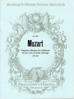 Wolfgang Amadeus Mozart - Vesperae Solennes KV 339 - Partition - di-arezzo.fr