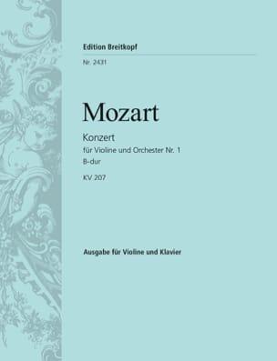 Wolfgang Amadeus Mozart - Concerto Violon n° 1 si bémol majeur KV 207 - Partition - di-arezzo.fr