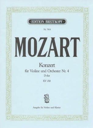 Wolfgang Amadeus Mozart - Concerto Violon n° 4 ré majeur KV 218 - Partition - di-arezzo.fr