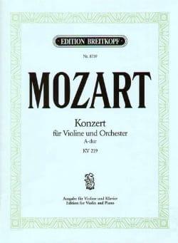 Wolfgang Amadeus Mozart - Concerto Violon n° 5 la majeur KV 219 - Partition - di-arezzo.fr