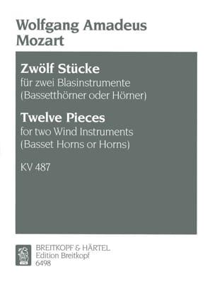 Wolfgang Amadeus Mozart - 12 Stücke KV 487– 2 Blasinstrumente (Bassethorner o. Hörner) - Partition - di-arezzo.fr