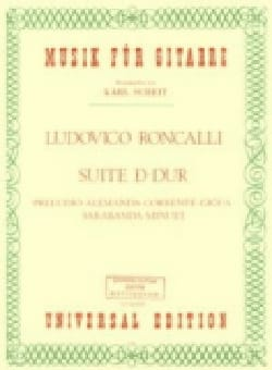 Lodovico Roncalli - Suite D-Dur - Partition - di-arezzo.fr