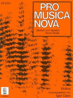 Igor Ozim - Studien zum Spielen Neuer Musik - Violon - Partition - di-arezzo.fr