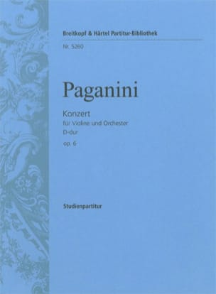 Niccolò Paganini - Violinkonzert D-Dur Op. 6 - Driver - Sheet Music - di-arezzo.com