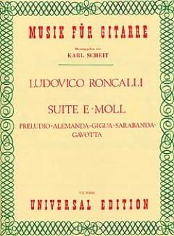 Lodovico Roncalli - Suite Nr. 1 e-moll - Partition - di-arezzo.fr