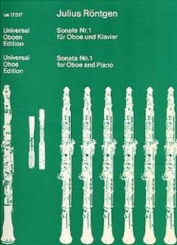 Julius Röntgen - Sonate Nr. 1 für Oboe und Klavier 1918 - Partition - di-arezzo.fr