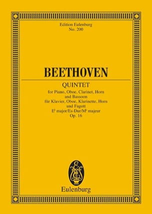 BEETHOVEN - Quintett Es-Dur, Op. 16 - Partitur - Sheet Music - di-arezzo.co.uk