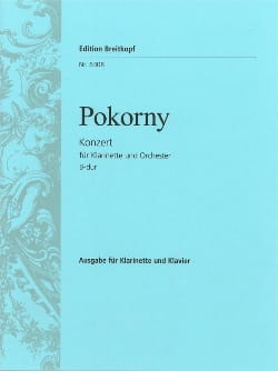 Franz Xaver Pokorny - Konzert B-Dur -Klarinette Klavier - Partition - di-arezzo.fr