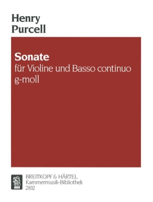Henry Purcell - Sonate G-Moll Z 780 - Partition - di-arezzo.fr