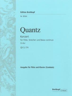 Johann Joachim Quantz - Flötenkonzert G-Dur QV 5: 174 – Flöte Klavier - Partition - di-arezzo.fr