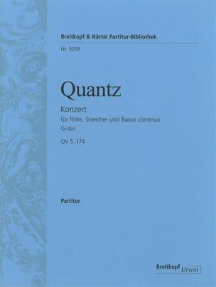 Johann Joachim Quantz - Flötenkonzert G-Dur - QV 5 : 174 – Partitur - Partition - di-arezzo.fr
