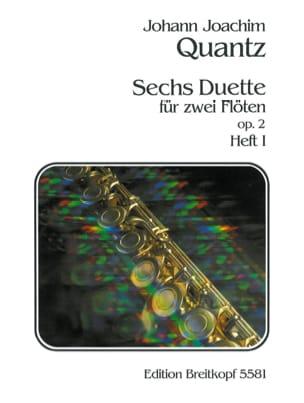 6 Duette op. 2 -Heft 1 - 2 Flöten Johann Joachim Quantz laflutedepan