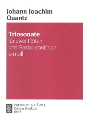 Johann Joachim Quantz - Triosonate e-moll - Partition - di-arezzo.fr