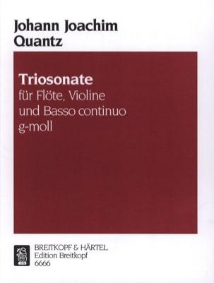 Johann Joachim Quantz - Triosonate g-moll –Flöte, VIoline u. Bc - Partition - di-arezzo.fr