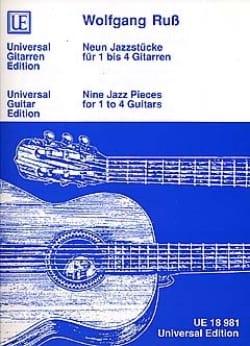Wolfgang Russ - Neun Jazzstücke für 1 bis 4 Gitarren - Partition - di-arezzo.fr