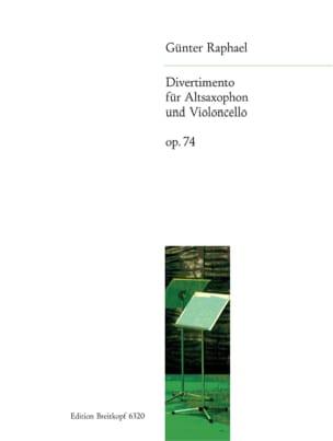 Günter Raphael - Divertimento, Op. 74 - Sax. Alto et Vcelle - Partition - di-arezzo.fr