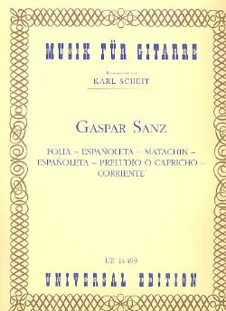 Gaspar Sanz - Folia - Espanoleta - Matachin - Espanoleta - Preludio o Capricho - Corriente - Sheet Music - di-arezzo.co.uk