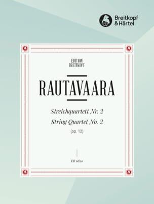 Einojuhani Rautavaara - Streichquartett, Nr. 2 op. 12 – Stimmen - Partition - di-arezzo.fr