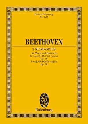 Romanzen G-Dur, Op. 40 F-Dur, Op. 50 G-Dur - Conducteur - laflutedepan.com