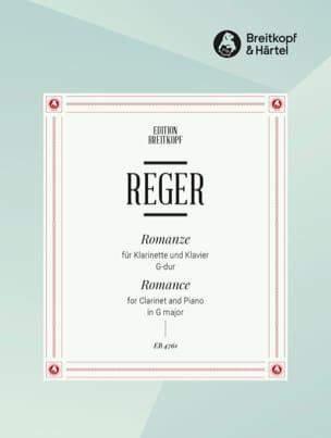 Romance en Sol Majeur Max Reger Partition Clarinette - laflutedepan