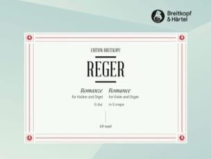 Romanze G-Dur - Violon et Orgue Max Reger Partition laflutedepan