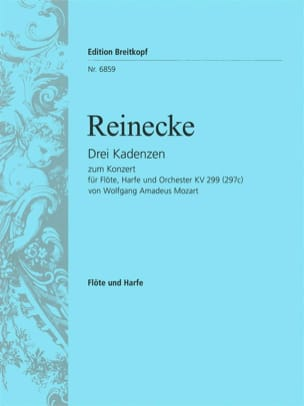 Mozart Wolfgang Amadeus / Reinecke Carl - 3 Kadenzen zum Konzert KV 299 - Flöte Harfe - Partition - di-arezzo.fr