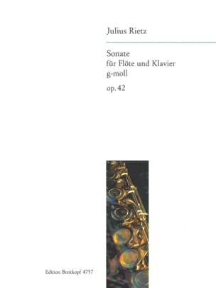Julius Rietz - Sonate g-moll op. 42 - Flöte Klavier - Partition - di-arezzo.fr